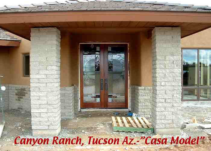 Canyon Ranch subdivision, model home, still under constuction.